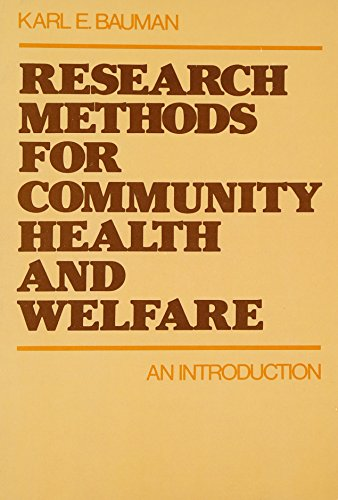 9780195026993: Research Methods for Community Health and Welfare: An Introduction