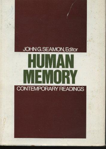 9780195027389: Human Memory: Contemporary Readings