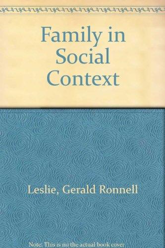 9780195029758: Family in Social Context