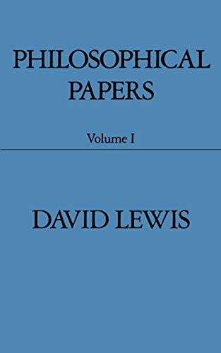 9780195032048: Philosophical Papers: Volume I: 1