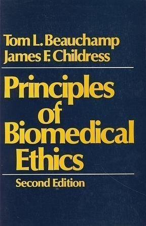 9780195032857: Principles of Biomedical Ethics