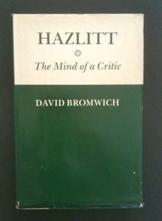 9780195033434: Hazlitt: The Mind of a Critic