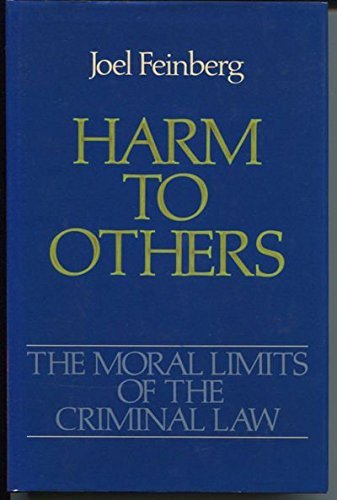 9780195034097: The Moral Limits of the Criminal Law: Harm to Others v. 1