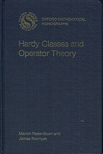 9780195035919: Hardy Classes and Operator Theory