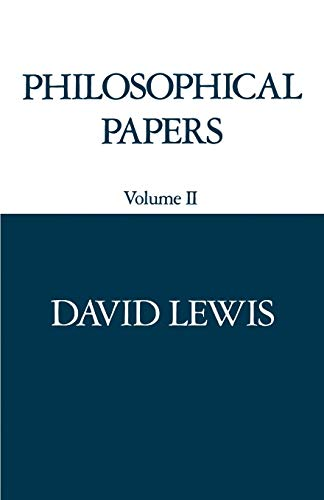 Philosophical Papers: Vol 2: Lewis, David