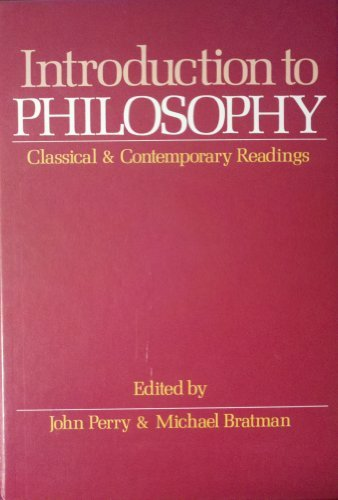 9780195036978: Introduction to Philosophy: Classical and Contemporary Readings