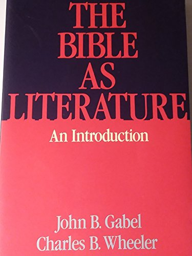 9780195039948: The Bible as Literature: An Introduction
