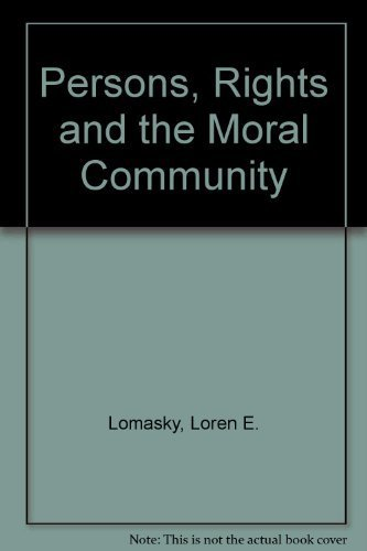 9780195042092: Persons, Rights, and the Moral Community