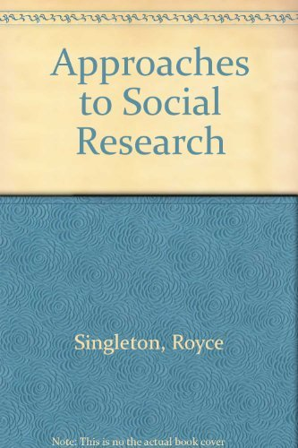 9780195044690: Approaches to Social Research