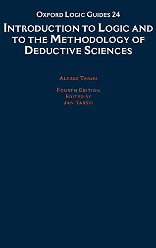 9780195044720: Introduction to Logic and to the Methodology of Deductive Sciences