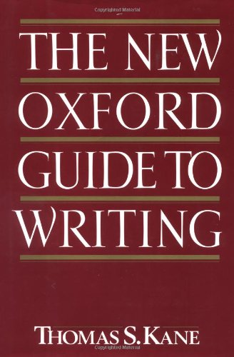 9780195045383: The New Oxford Guide to Writing