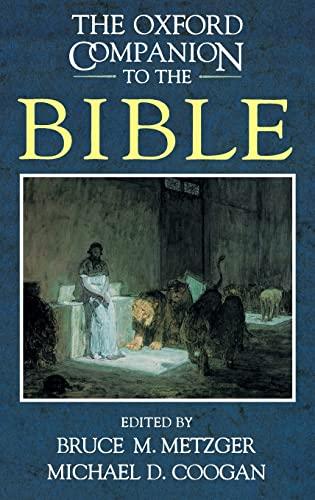 9780195046458: The Oxford Companion to the Bible (Oxford Companions)
