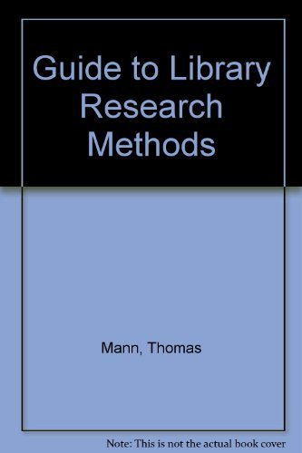 A Guide to Library Research Methods: Thomas Mann