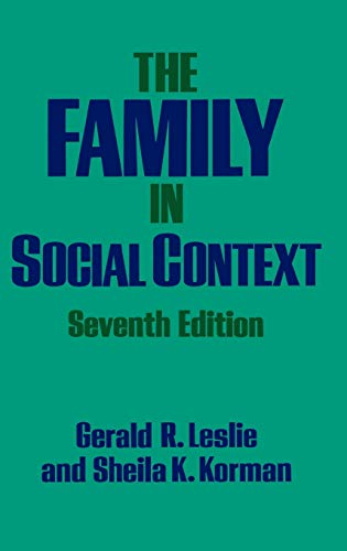9780195049749: The Family in Social Context