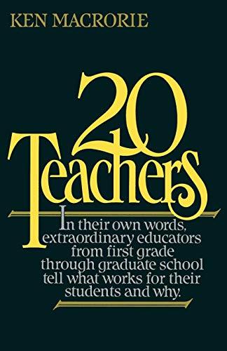 9780195049824: Twenty Teachers