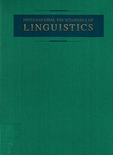 9780195051964: International Encyclopaedia of Linguistics
