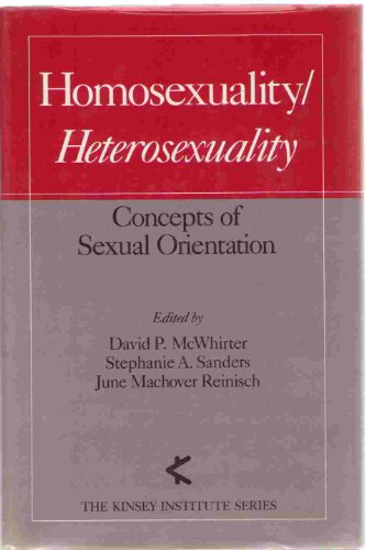 9780195052053: Homosexuality/Heterosexuality: Concepts of Sexual Orientation (Kinsey Institute Series)