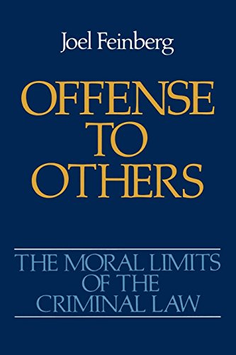 9780195052152: The Moral Limits of the Criminal Law: Offense to Others: Offence to Others Vol 2