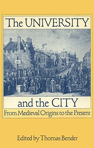 9780195052732: The University and the City: From Medieval Origins to the Present