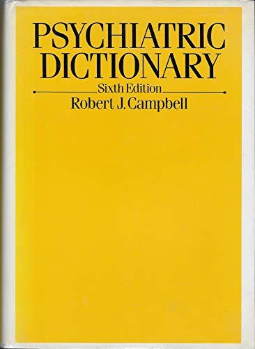 9780195052930: Psychiatric Dictionary