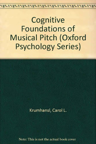 9780195054750: Cognitive Foundations of Musical Pitch (Oxford Psychology Series)