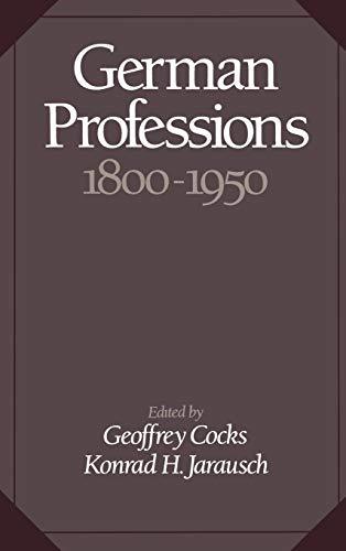 German Professions, 1800-1950