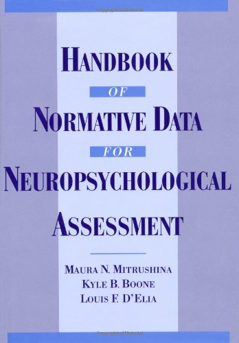 9780195056754: Handbook of Normative Data for Neuropsychological Assessment