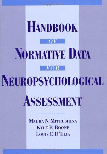 9780195056754: Handbook of Normative Data for Neuropsychological Assessment