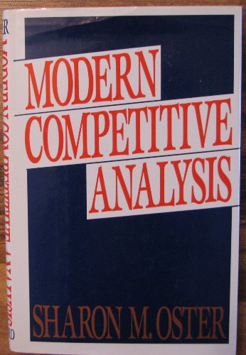 9780195058451: Modern Competitive Analysis