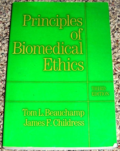 9780195059014: Principles of Biomedical Ethics