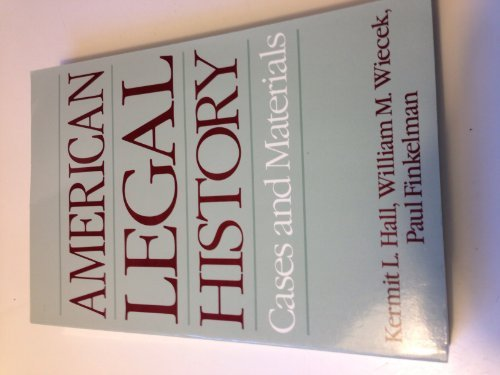 9780195059083: American Legal History: Cases and Materials