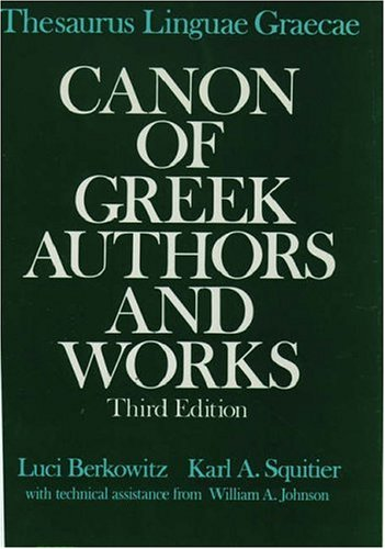 9780195060379: Thesaurus Linguae Graecae Canon of Greek Authors and Works