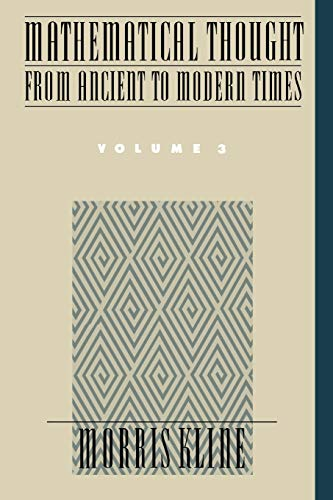 9780195061376: Mathematical Thought from Ancient to Modern Times: Volume 3