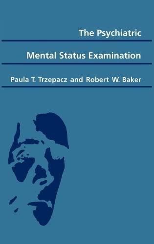 9780195062519: The Psychiatric Mental Status Examination