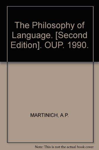 9780195062540: The Philosophy of Language
