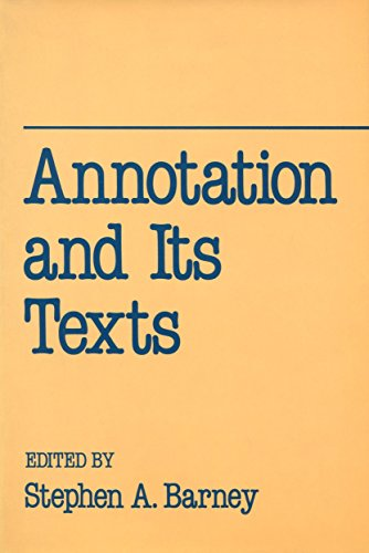 9780195063011: Annotation and Its Texts (University of California Humanities Research Institute Series)