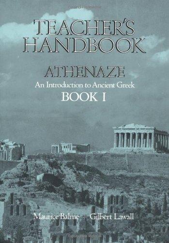 9780195063844: Athenaze: Teacher's Handbook I: Introduction to Ancient Greek: Teachers Handbook Bk.1
