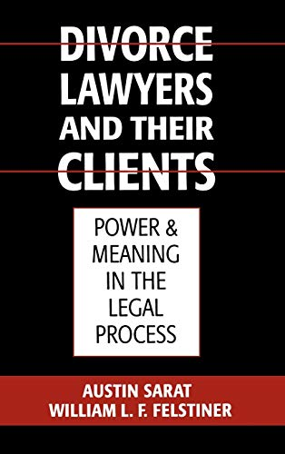 9780195063875: Divorce Lawyers and Their Clients: Power and Meaning in the Legal Process