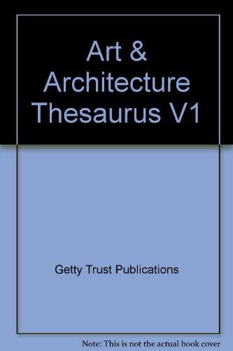 9780195064148: Art & Architecture Thesaurus V1