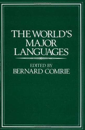 9780195065114: The World's Major Languages