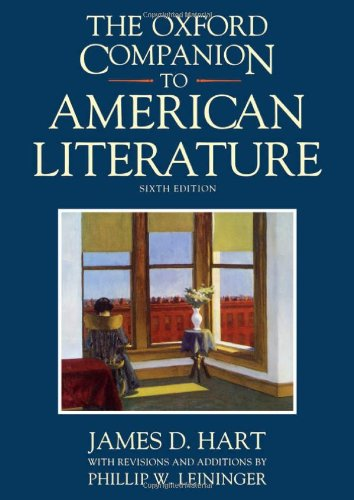 9780195065480: The Oxford Companion to American Literature (Oxford Companions)