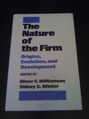 9780195065909: The Nature of the Firm: Origins, Evolution, And Development
