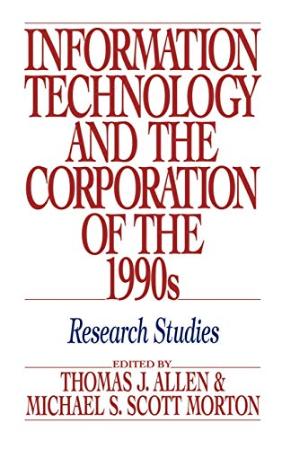 9780195068061: Information Technology and the Corporation of the 1990s: Research Studies