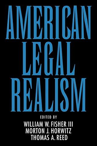 9780195071238: American Legal Realism