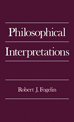 9780195071627: Philosophical Interpretations