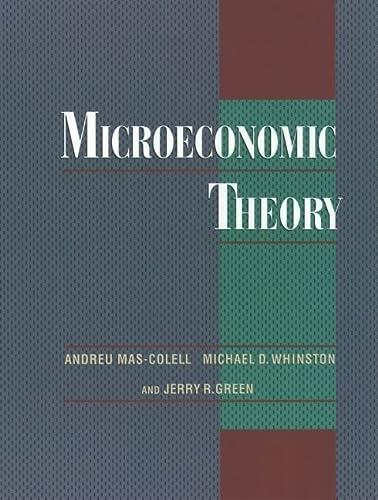 9780195073409: Microeconomic Theory