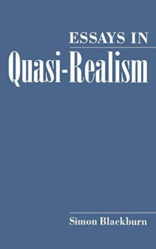 9780195080414: Essays in Quasi-Realism
