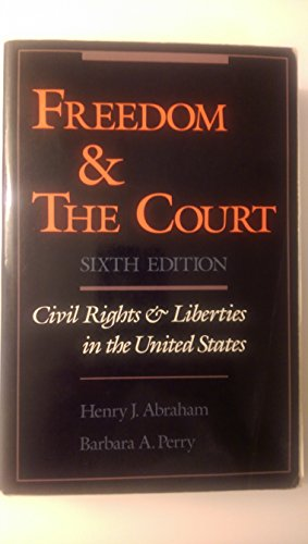 9780195082647: Freedom and the Court: Civil Rights and Liberties in the United States