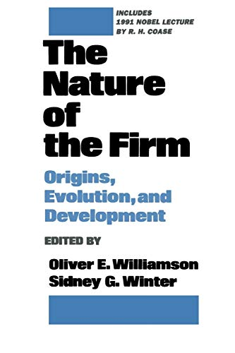 9780195083569: The Nature of the Firm: Origins, Evolution, and Development