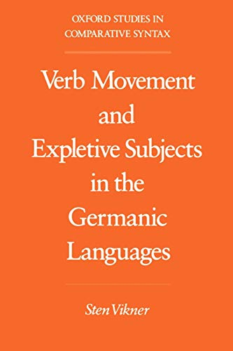 9780195083941: Verb Movement and Expletive Subjects in the Germanic Languages (Oxford Studies in Comparative Syntax)